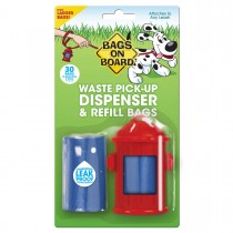 Bags on Board Fire Hydrant Dispenser and Pick-up Bags 30 bags Red