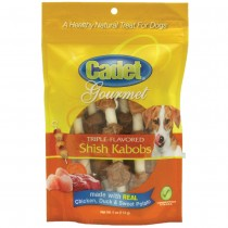 Cadet Gourmet Rawhide Shish Kabob Triple Flavor Treats Chicken, Duck and Sweet Potato 4 ounces