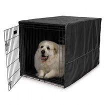 Midwest Quiet Time Crate Cover Black Polyester