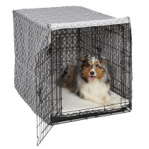 Midwest QuietTime Defender Covella Dog Crate Cover Gray