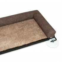 K&H Pet Products EZ Mount Kitty Sill Deluxe with Bolster Brown 12'' x 23'' x 2.5''