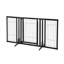 "Richell Premium Plus Freestanding Pet Gate Black 34""-63"" x 20.5""-26"" x 32"""